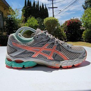 Asics Womens Gel Flux 2 Silver Running Shoes Lace